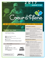 2017 CDA Classic Pickleball Tournament Flyer